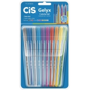 Caneta Gel Cis - 1.0mm -  Gelyx - 10 Cores
