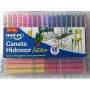 Caneta Hidrocor 48 Cores Artistica 5075 Molin