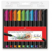 Caneta Pincel SuperSoft Com 10 Cores - Faber-Castell