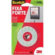 FITA FIXA FORTE  SCOTCH 3M - 12MM X1,5M - AMBIENTE INTERNO