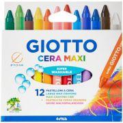 Giz de Cera Maxi 12 Cores Giotto