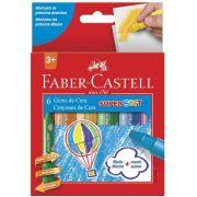 Giz de Cera Super Soft Retrátil 6 Cores - Faber-Castell