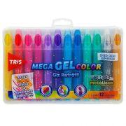 Giz Retrátil Tris Mega Gel Color Metálico 12 Cores