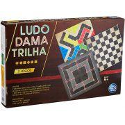 Jogo de Tabuleiro 3 Jogos Ludo, Dama e Trilha - Pais e Filhos