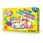 Kit de Massinhas Letras e Números Acrilex