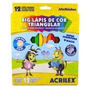 LÁPIS DE COR 12 CORES ACRILEX BIG LÁPIS TRIANGULAR