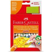 Lápis de Cor 12 cores Jumbo triangular - Faber Castell
