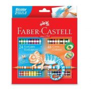Lápis de Cor Bicolor 24 Lápis 48 Cores Faber-Castell
