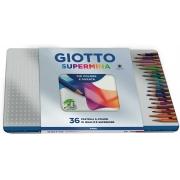 Lápis De Cor Giotto Supermina Lata 36 Cores