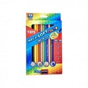 Lápis de Cor Mega Soft Color 36 Cores + Apontador - Tris