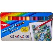 Lápis De Cor Mega Soft Color - 72 Cores - Estojo Metálico - Tris