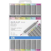Marcador CIS Graf Duo Brush Multicor C/6