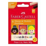 Massa De Modelar C/6 Cores + Caras & Cores - Faber-Castell