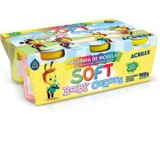 Massinha Soft Baby Colors Caixa 6 Cores Sortidas Acrilex