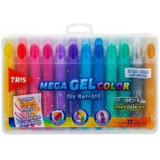 Mega Gel Color Metálico Giz Retrátil - Tris