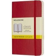 Moleskine - Caderno Clássico, Quadriculado, Vermelho, Capa flexível, Tamanho Bolso