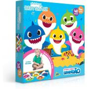Quebra-Cabeça Grandão - Baby Shark - 48 Peças - Toyster