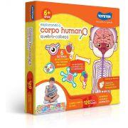 Quebra-Cabeça Grandão - Corpo Humano - 120 Peças - Toyster