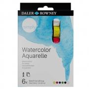 Tinta Aquarela em Tubo Simply Estojo com 06 Cores de 12ml Daler Rowney