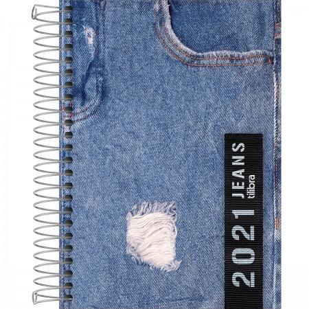 Agenda Espiral 2 Dias por Página Jeans 2021