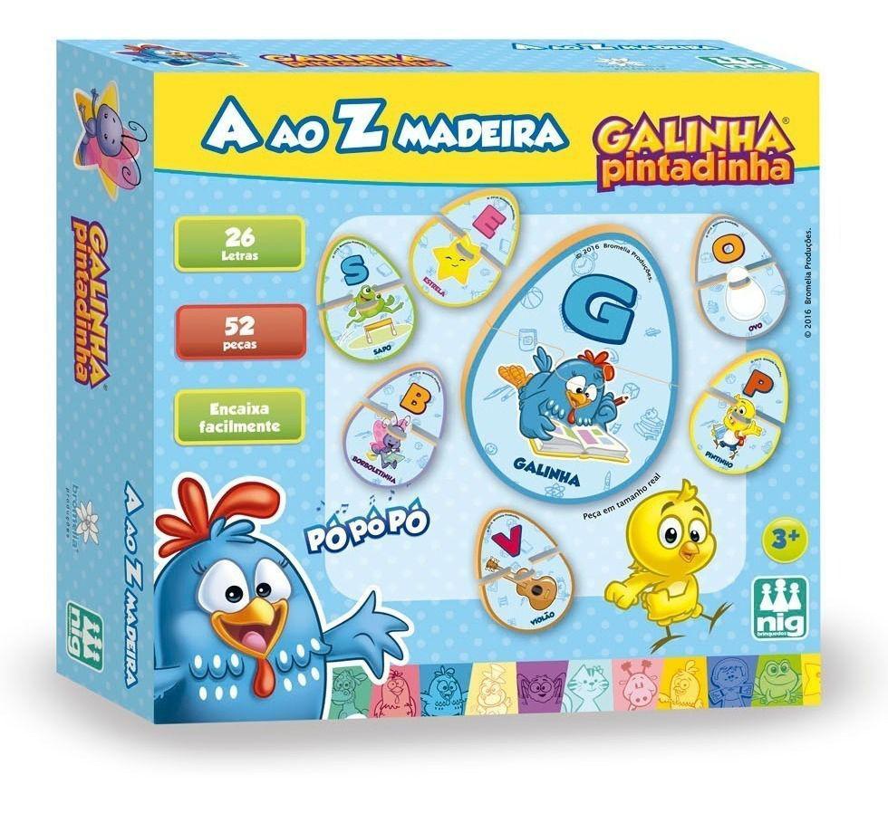Aprender A ao Z Pedagógico Galinha Pintadinha - Nig Brinquedos