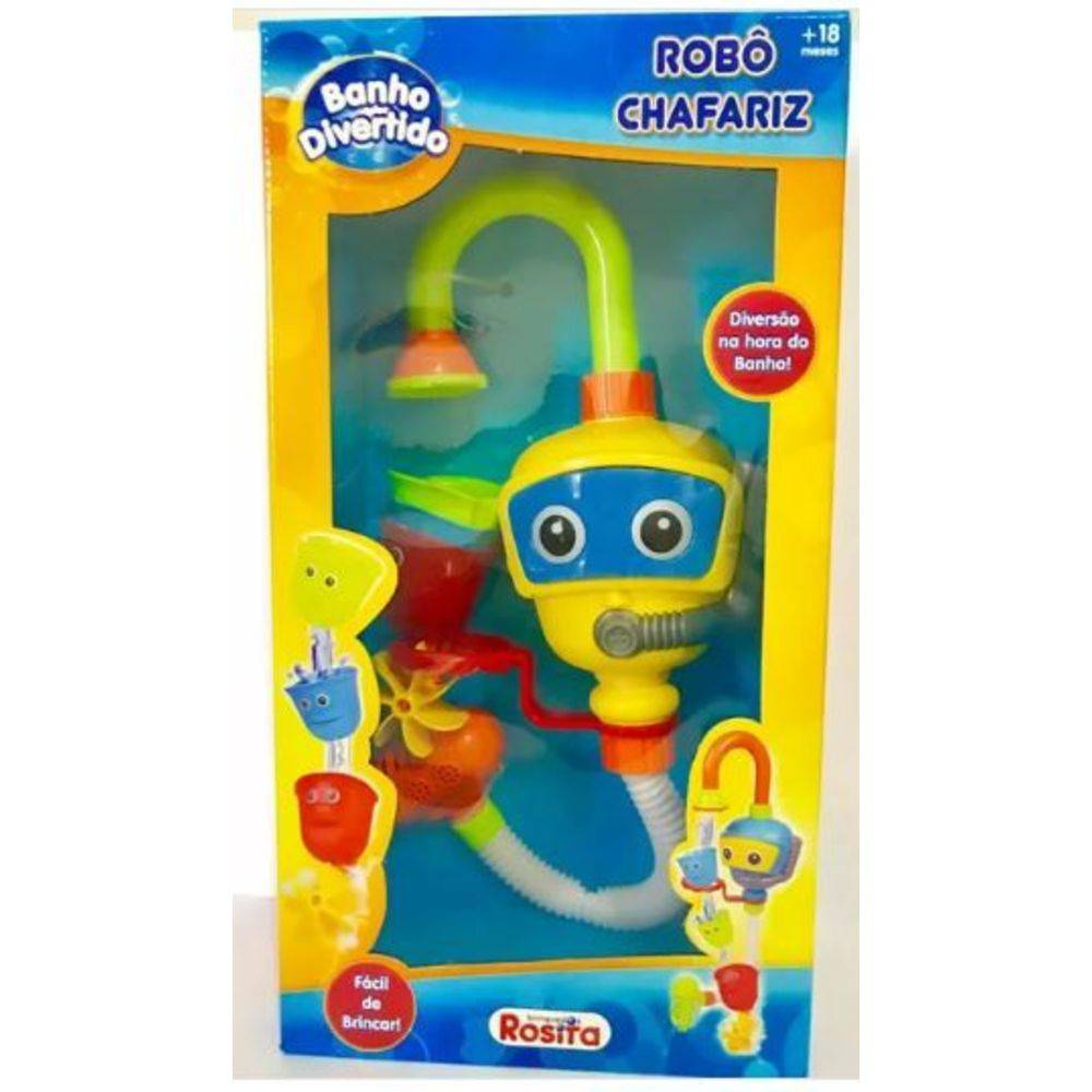 Banho Divertido - Robô Chafariz - Rosita
