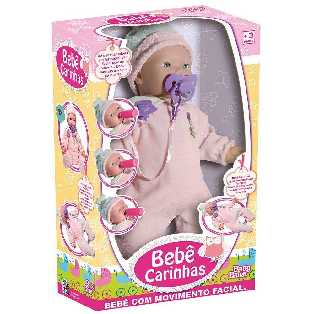 Boneca Bebê Carinhas Expressão Real  -  Baby Brink