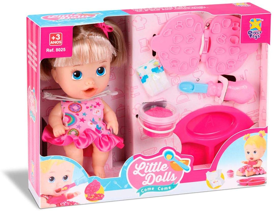 Boneca Little Dolls Come Come Divertoys
