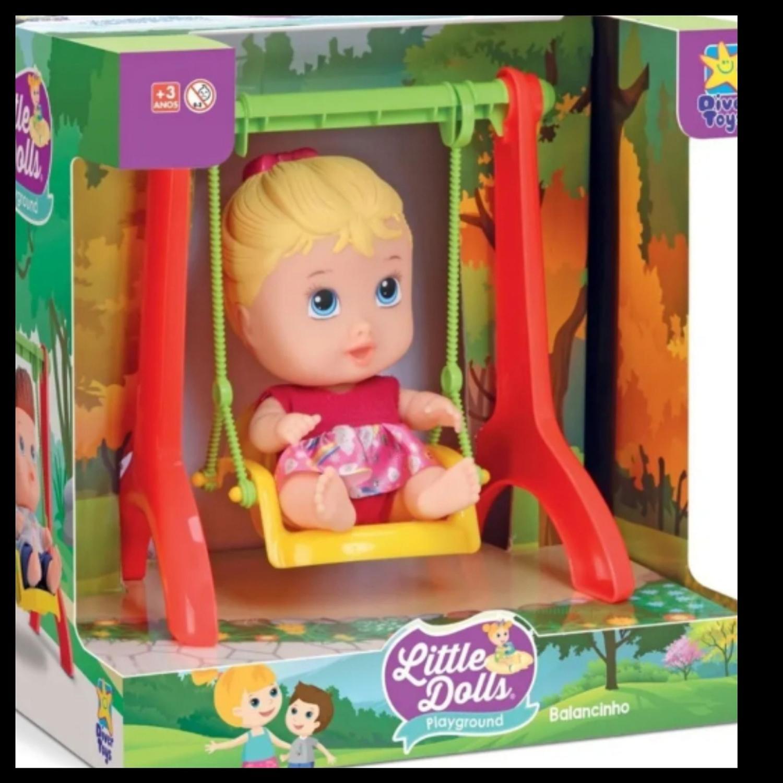 Boneca Little Dolls Playground Balancinho - Diver Toys
