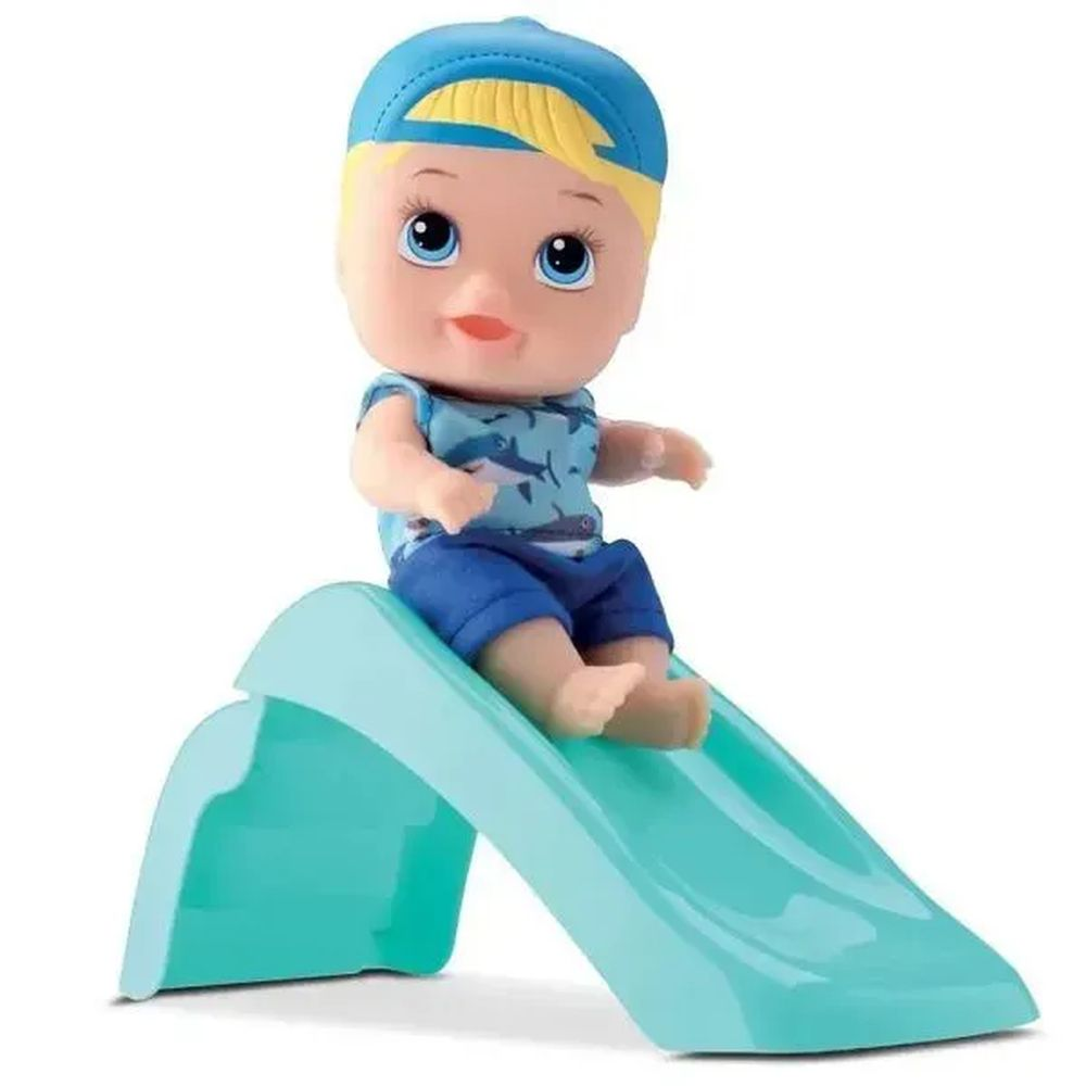 Boneca Little Dolls Playground Escorregador - Diver Toys