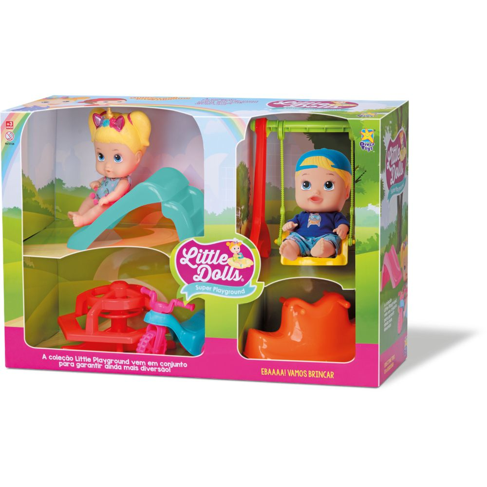 Boneca Little Dolls Super Playground - Diver Toys