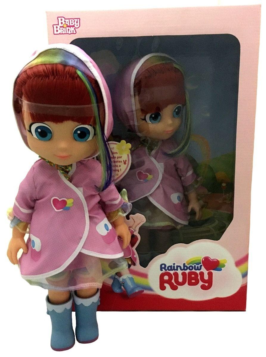 Boneca Rainbow Ruby - Baby Brink c/ Botas
