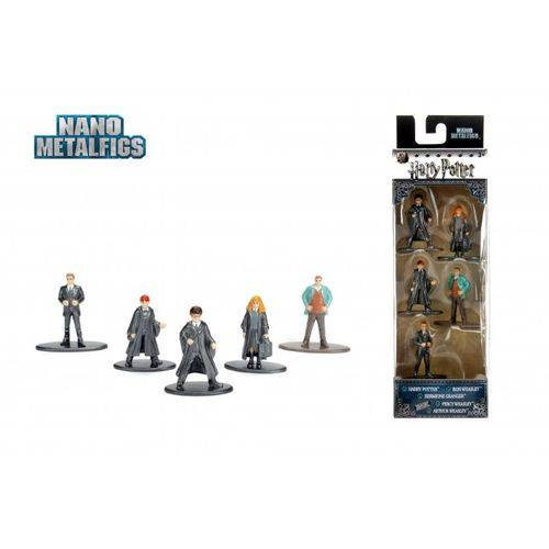 Bonecos de Metal Jada Nano - Harry Potter - PACK C/5