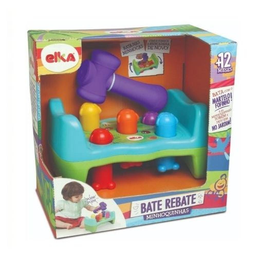 Brinquedo Didático Bate Rebate Minhoquinhas - Elka