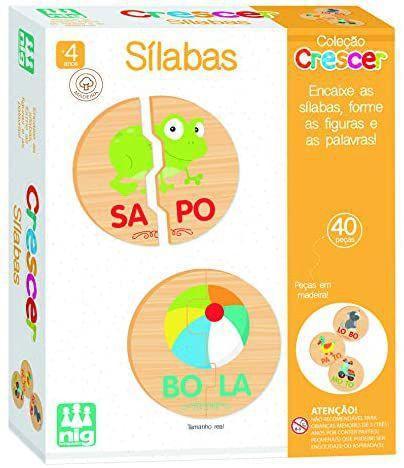 Brinquedo Educativo Crescer Sílabas - Nig Brinquedos