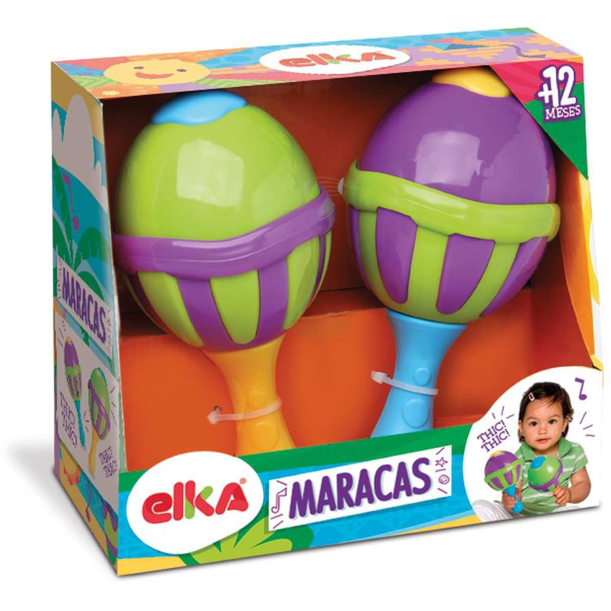 Instrumento Infantil Maracas c/ Sons  - Elka