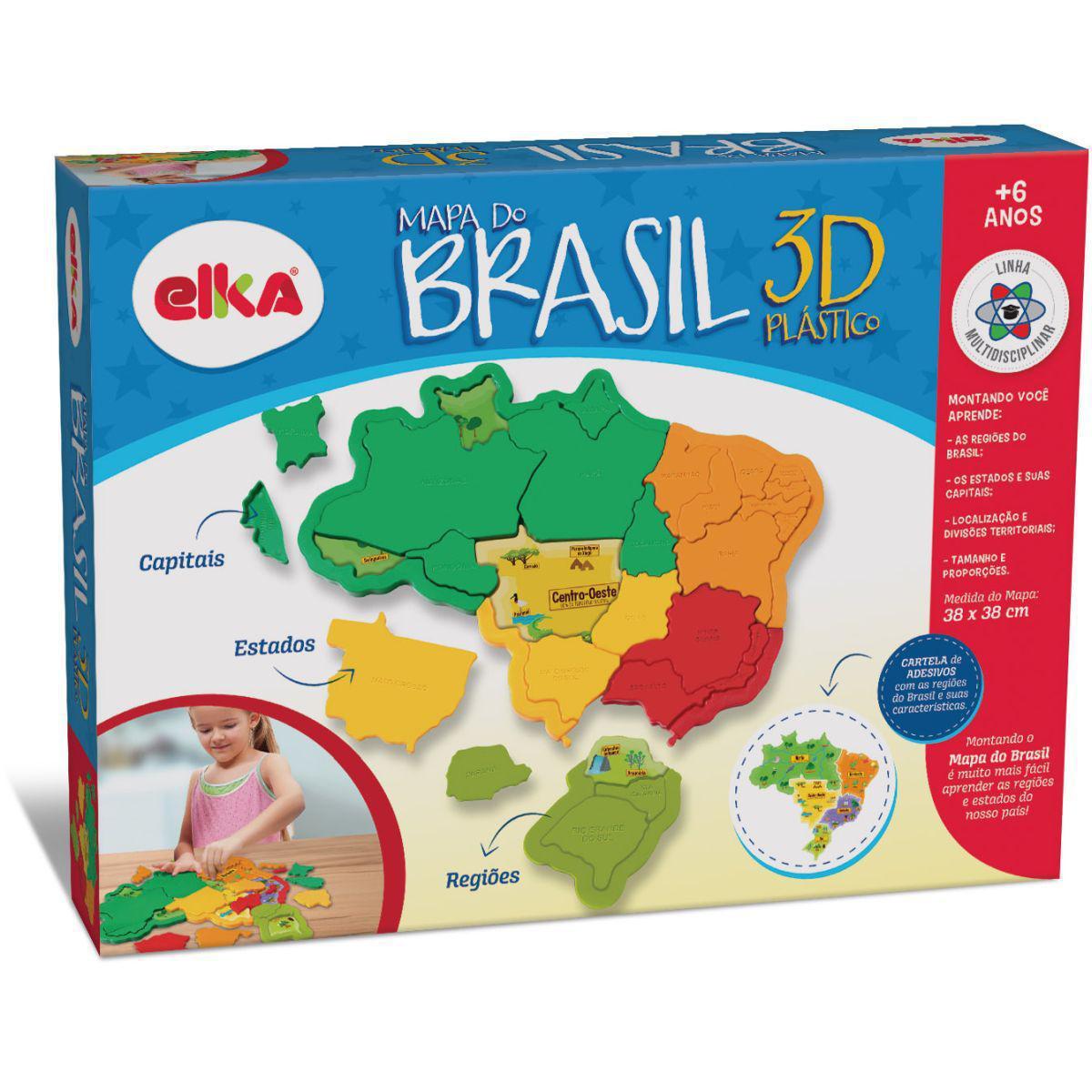 Brinquedo Para Montar Mapa Do Brasil - Elka