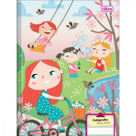 Caderno Brochura Capa Dura Pauta Verde Sapeca 40 Folhas - Tilibra