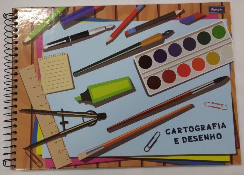 CADERNO CARTOGRAFIA CAPA DURA 96 FLS - FORONI