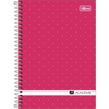 Caderno Espiral 1/4 80 Folhas Academie Feminino - Tilibra
