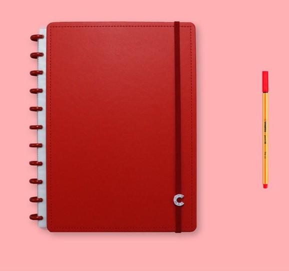 Caderno Inteligente Médio All Red - CIMD3094