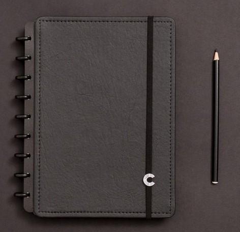 Caderno Inteligente Médio Black Ecológico - CIMD3004