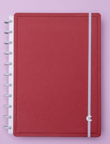 Caderno Inteligente Vermelho Cereja - Grande - CIGD4054