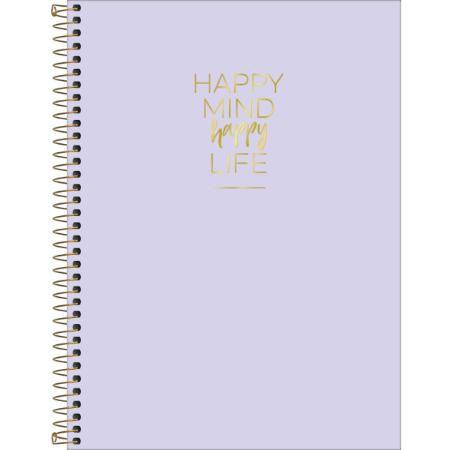 Caderno Universitário Happy 10x1 Espiral Capa Dura - 160 Folhas - Tilibra