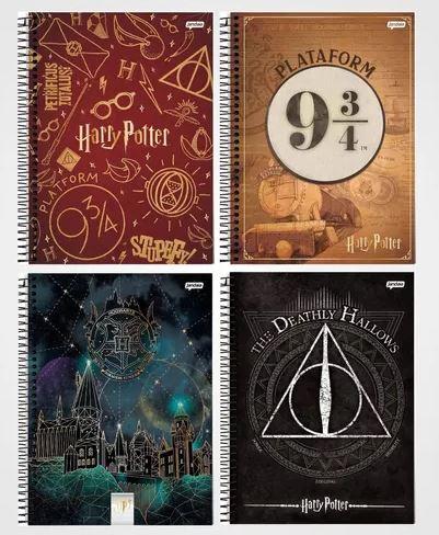 Caderno Universitário Harry Potter 1x1 Espiral Capa Dura - 96 Folhas - Jandaia