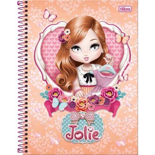Caderno Universitário Jolie 1x1 Espiral Capa Dura - 96 Folhas - Tilibra