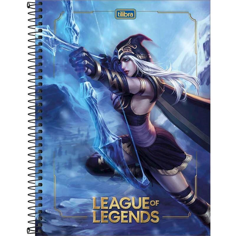 Caderno Universitário League of Legends 1x1 Espiral Capa Dura - 80 Folhas - Tilibra
