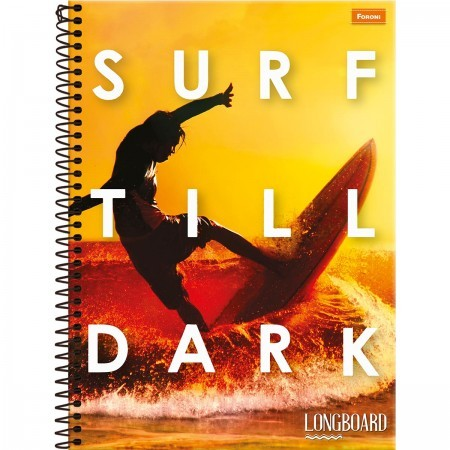 Caderno Universitário Longboard 1x1 Espiral Capa Dura - 96 Folhas - Foroni