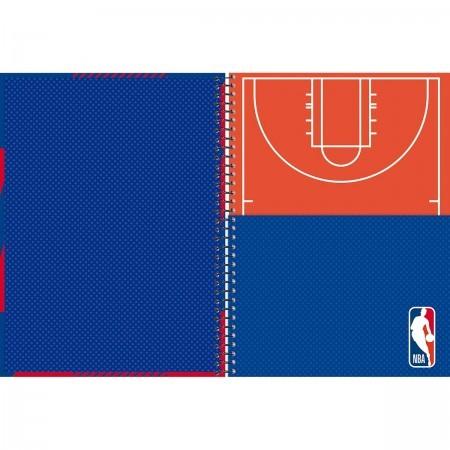Caderno Universitário NBA 1x1 Espiral Capa Dura - 96 Folhas - Foroni