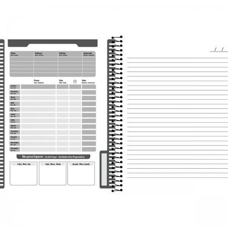 Caderno Universitário No Stress 1x1 Espiral Capa Dura - 80 Folhas - Foroni